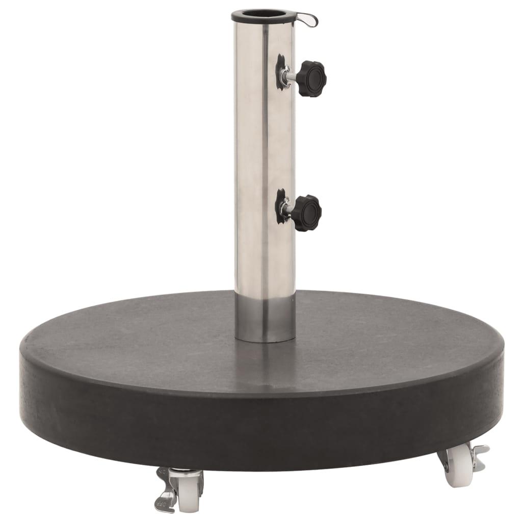 vidaXL Suport umbrelă de soare, negru, 30 kg, granit, rotund vidaxl.ro