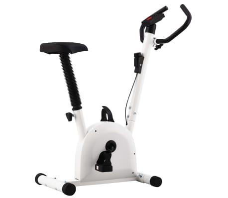 vidaXL Exercise Bike with Belt Resistance White