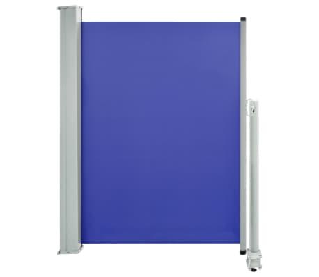 vidaXL Patio Retractable Side Awning 100x300 cm Blue