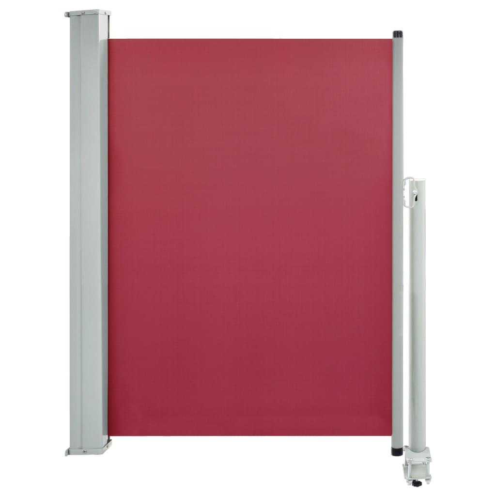 vidaXL Σκίαστρο Πλαϊνό Συρόμενο Βεράντας Κόκκινο 100 x 300 εκ.