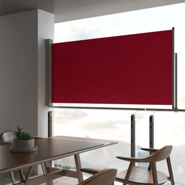 vidaXL Tuinscherm uittrekbaar 120x300 cm rood[1/7]