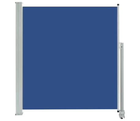 vidaXL Patio Retractable Side Awning 140 x 300 cm Blue
