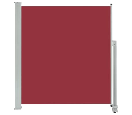 vidaXL Patio Retractable Side Awning 140 x 300 cm Red