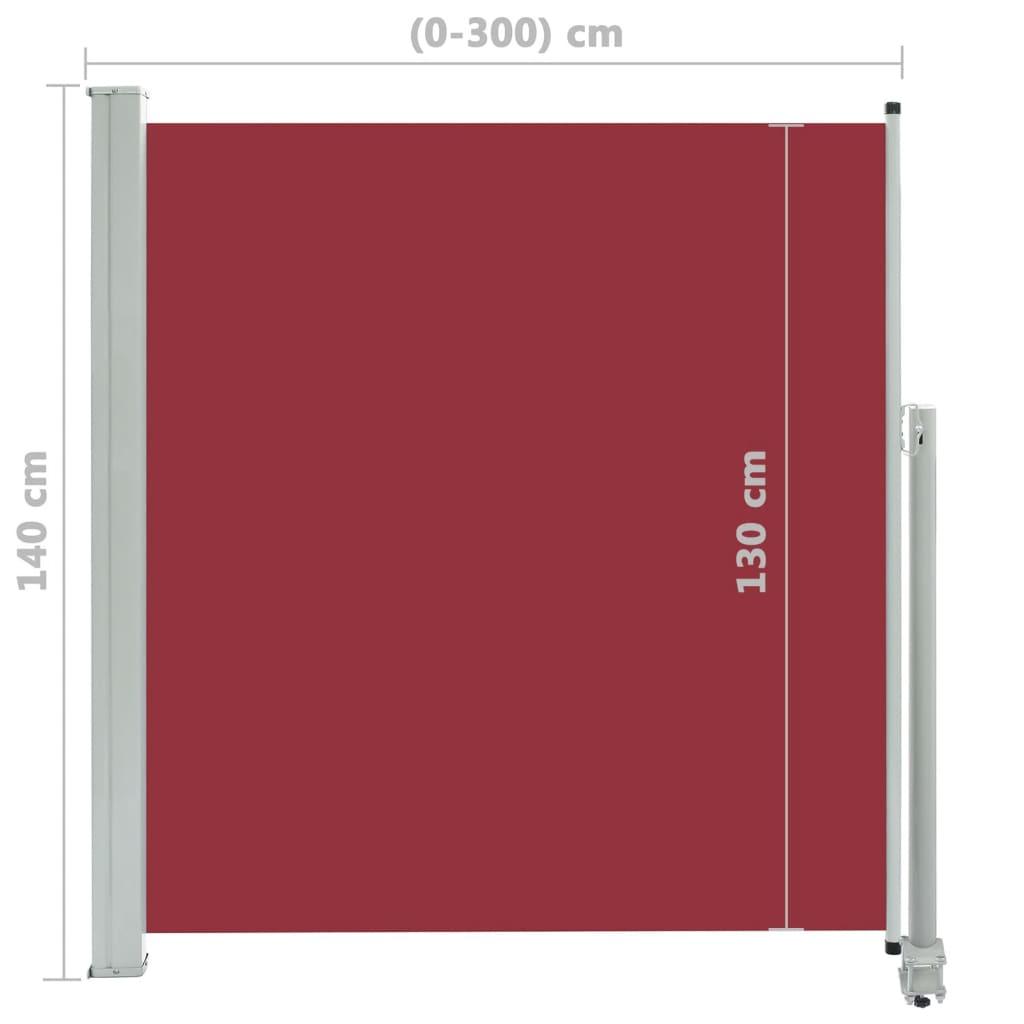 vidaXL Tuinscherm uittrekbaar 140x300 cm rood
