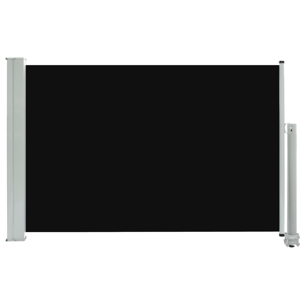 vidaXL Σκίαστρο Πλαϊνό Συρόμενο Βεράντας Μαύρο 60 x 300 εκ.