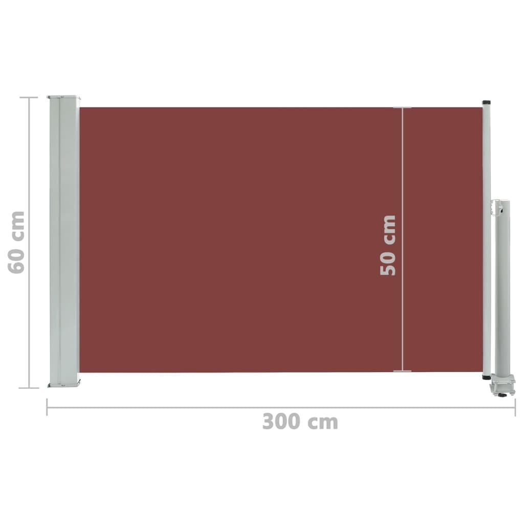 Lahtitõmmatav terrassi külgsein, 60 x 300 cm, pruun
