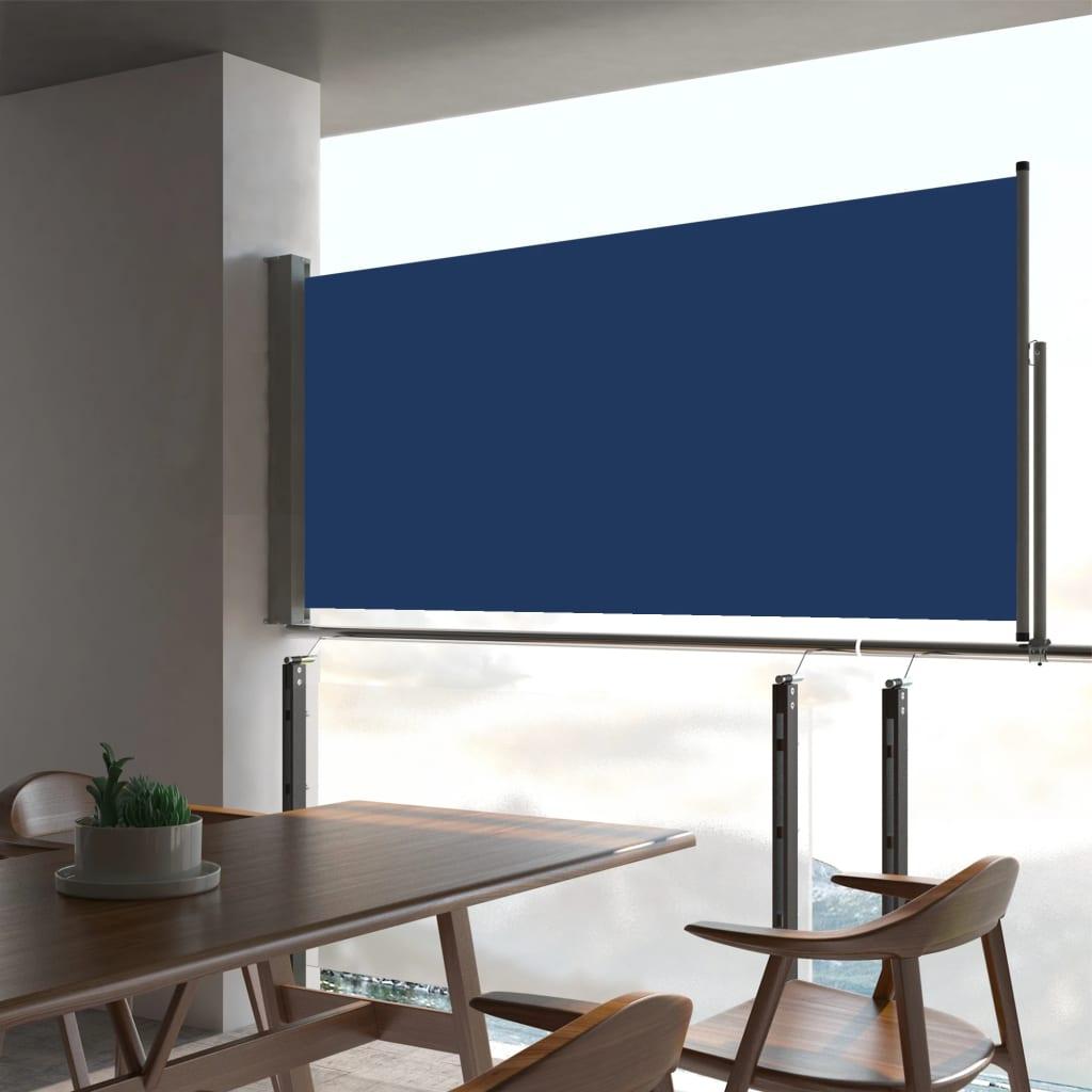 vidaXL Tuinscherm uittrekbaar 60x300 cm blauw