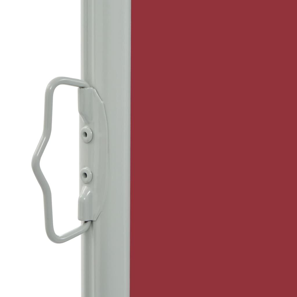 Tuinscherm uittrekbaar 60x300 cm rood