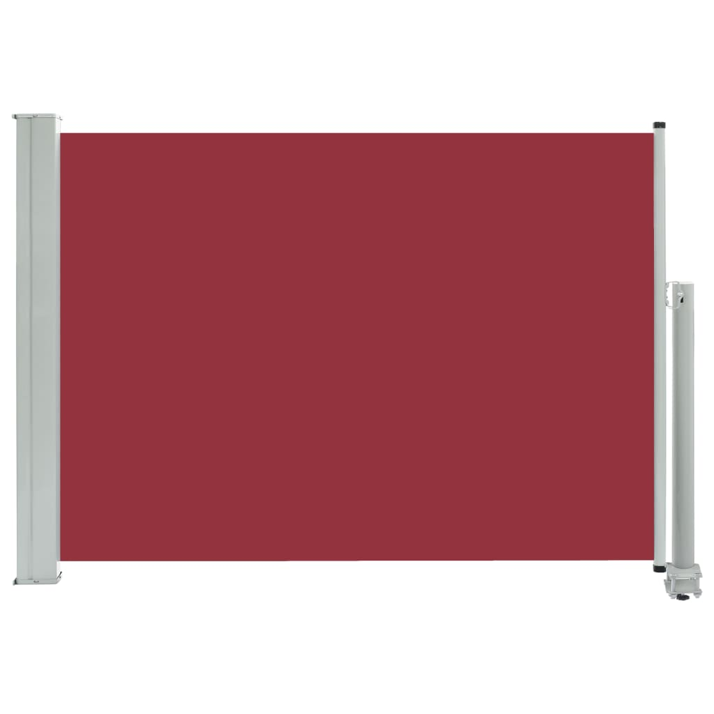vidaXL Σκίαστρο Πλαϊνό Συρόμενο Βεράντας Κόκκινο 80 x 300 εκ.