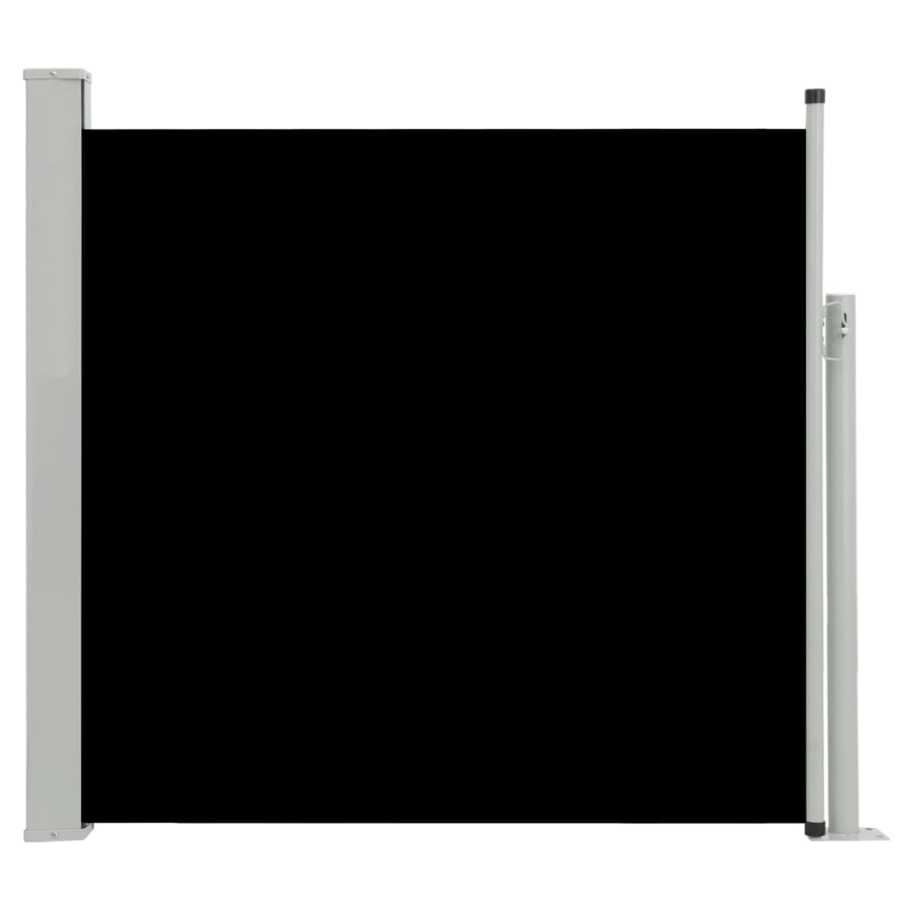 vidaXL Σκίαστρο Πλαϊνό Συρόμενο Βεράντας Μαύρο 170 x 300 εκ.