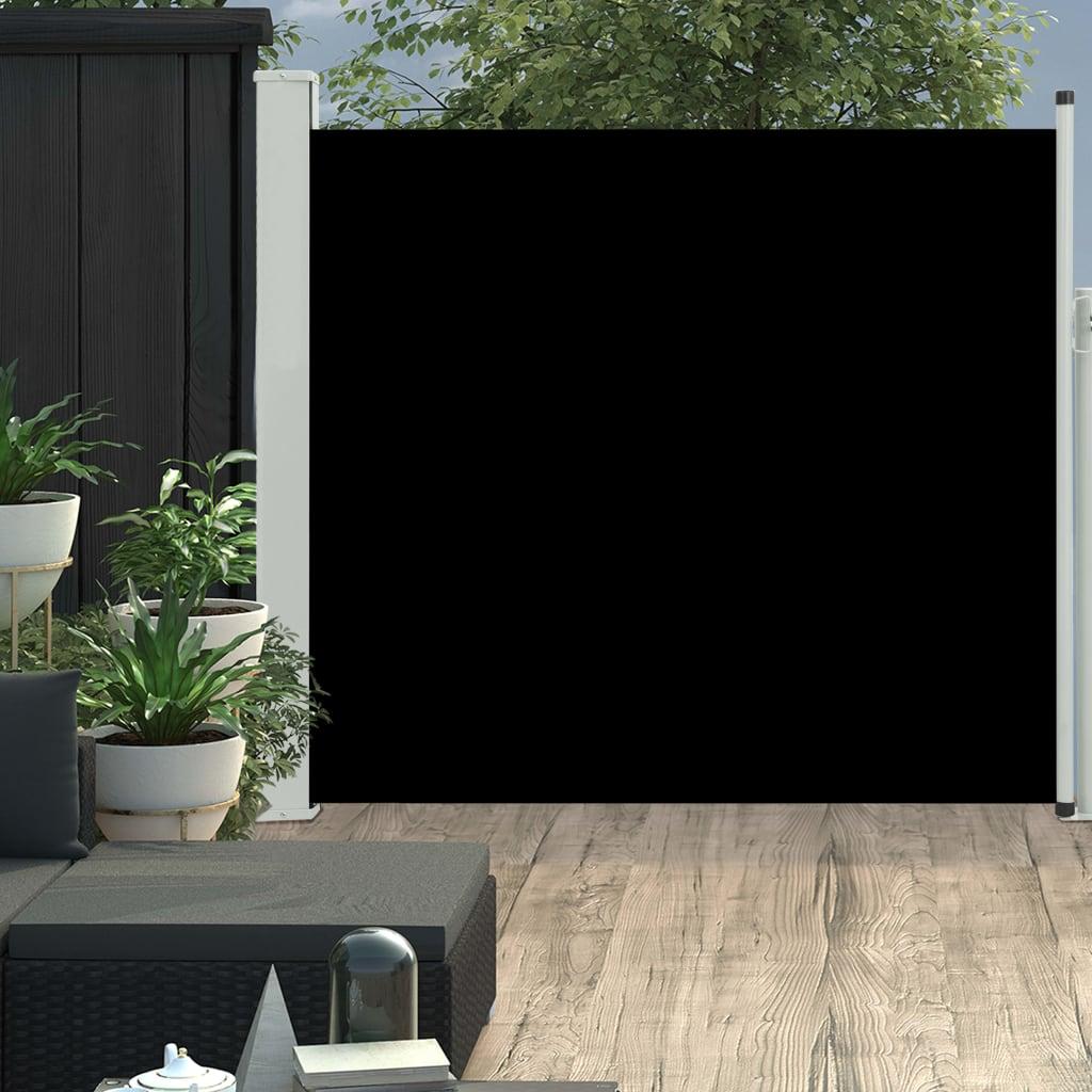Tuinscherm uittrekbaar 170x300 cm zwart