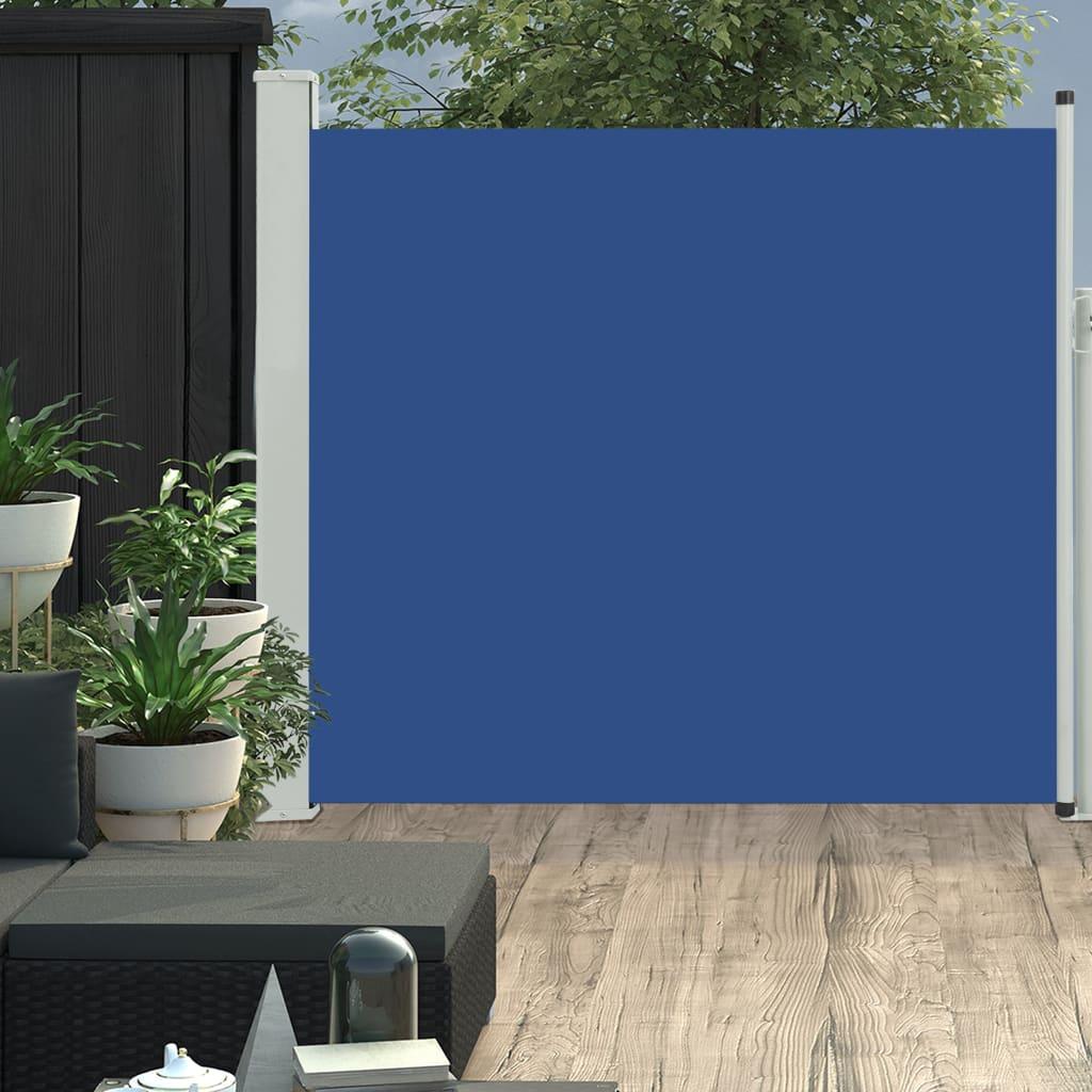 vidaXL Copertină laterală retractabilă de terasă, albastru, 170x300 cm vidaxl.ro