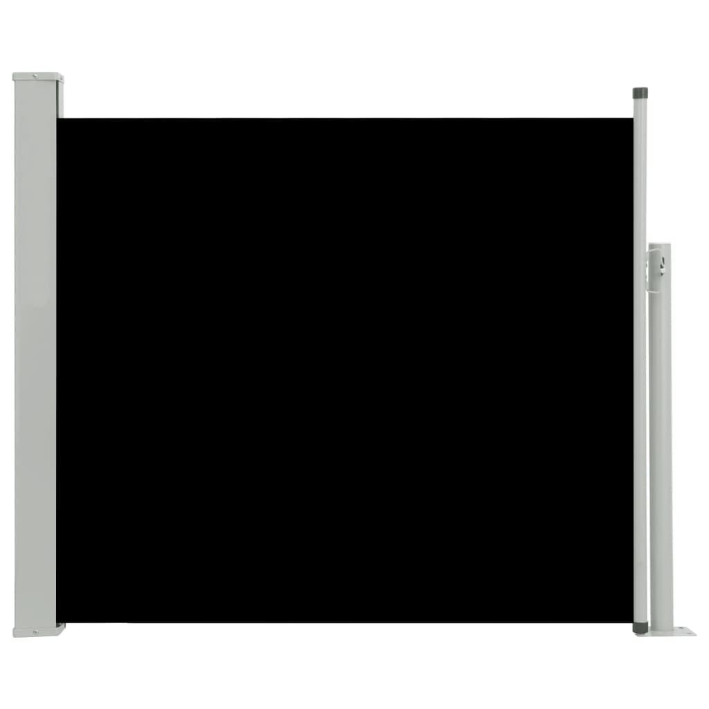 vidaXL Σκίαστρο Πλαϊνό Συρόμενο Βεράντας Μαύρο 100 x 300 εκ.