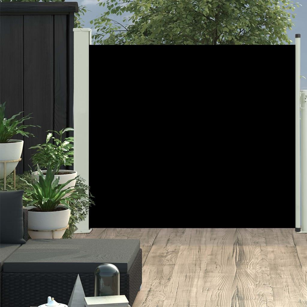 vidaXL Copertină laterală retractabilă de terasă, negru, 100x300 cm imagine vidaxl.ro