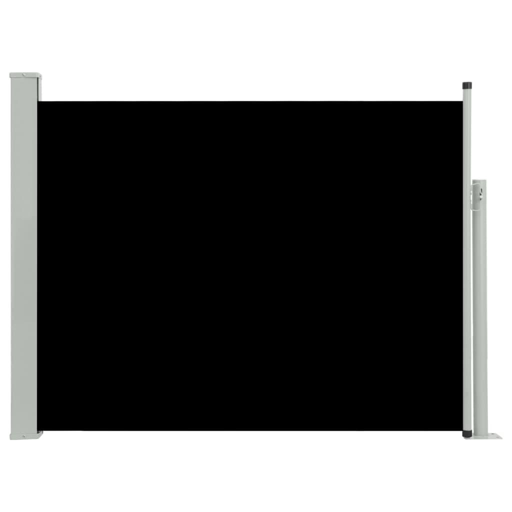 vidaXL Σκίαστρο Πλαϊνό Συρόμενο Βεράντας Μαύρο 170 x 500 εκ.