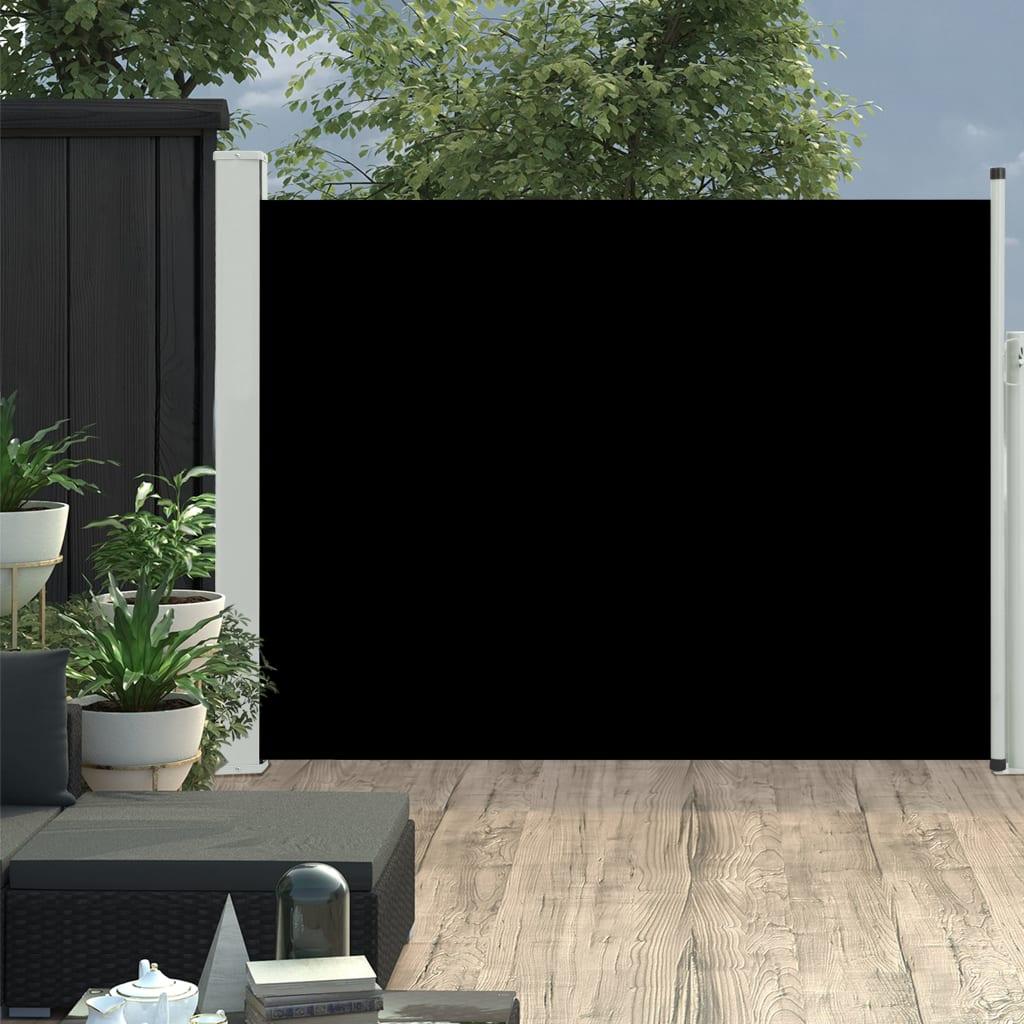vidaXL Copertină laterală retractabilă de terasă, negru, 170x500 cm poza vidaxl.ro