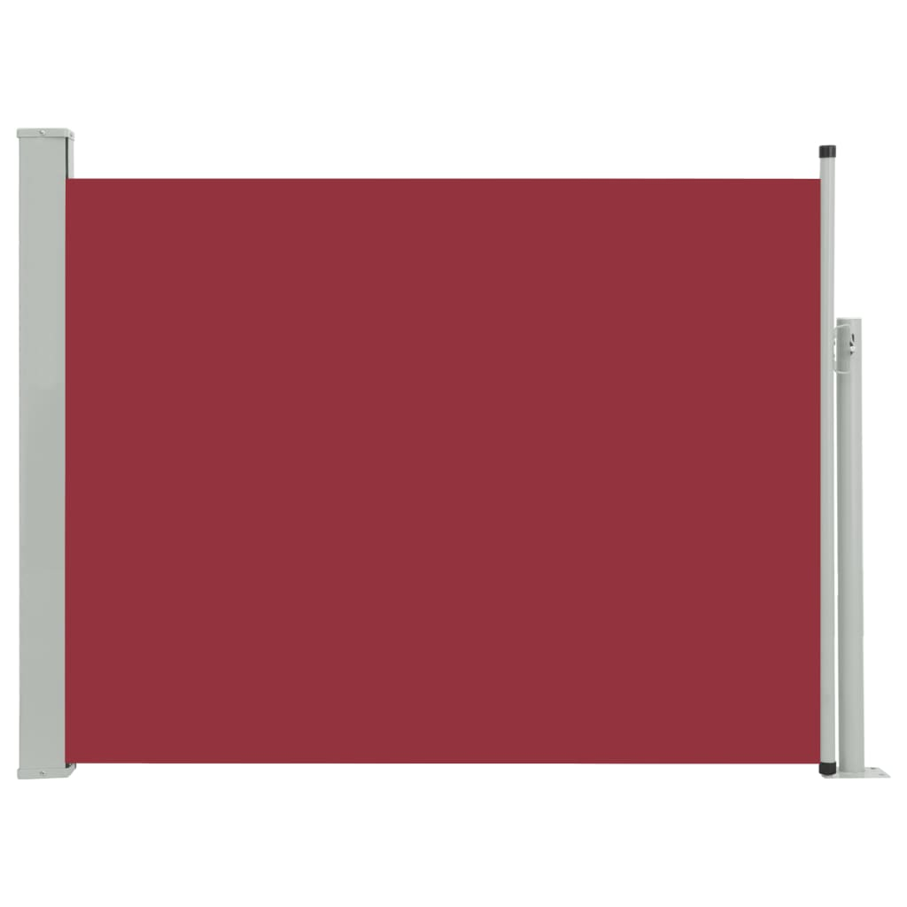 vidaXL Σκίαστρο Πλαϊνό Συρόμενο Βεράντας Κόκκινο 170 x 500 εκ.