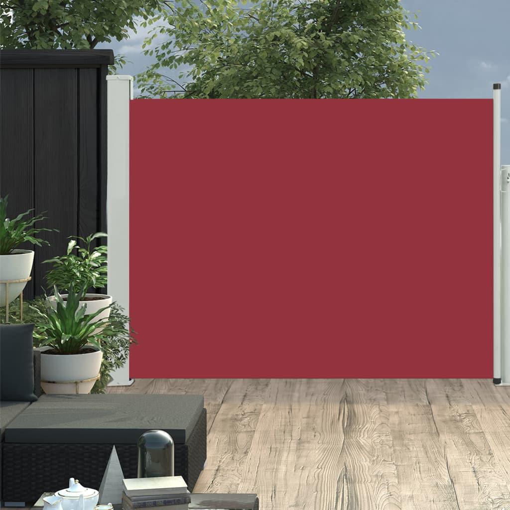 vidaXL Copertină laterală retractabilă de terasă, roșu, 170 x 500 cm vidaxl.ro