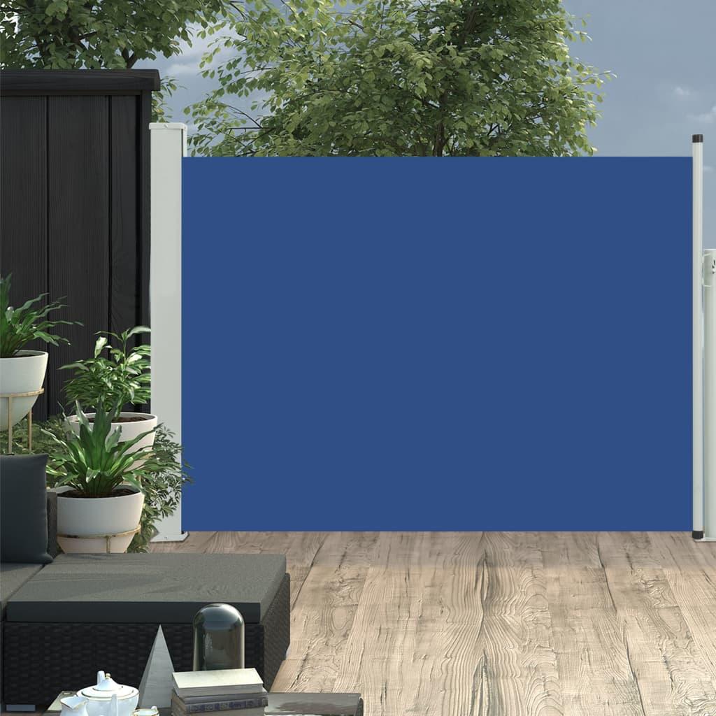 vidaXL Copertină laterală retractabilă terasă, albastru, 100x500 cm imagine vidaxl.ro