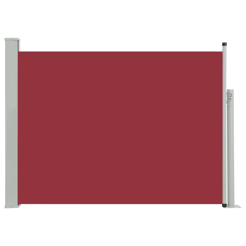 vidaXL Σκίαστρο Πλαϊνό Συρόμενο Βεράντας Κόκκινο 100 x 500 εκ.