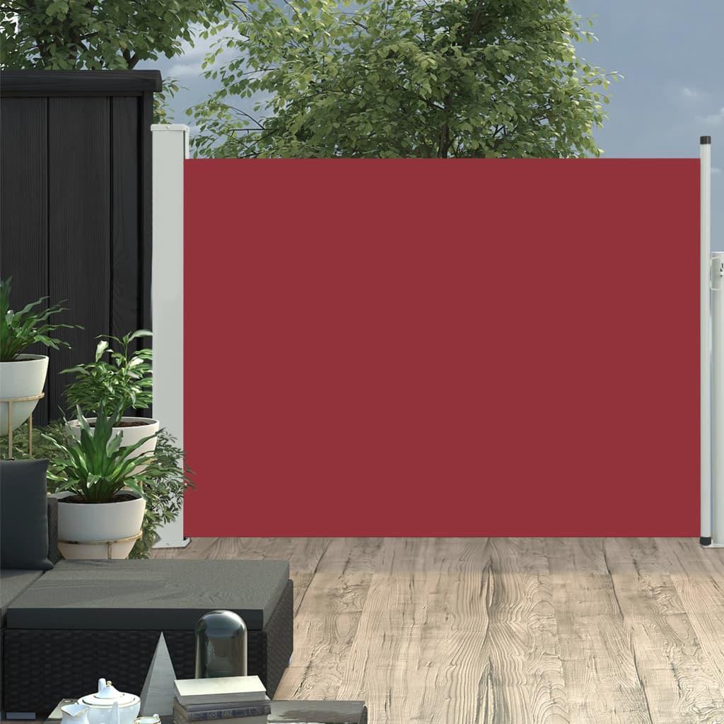 vidaXL Copertină laterală retractabilă de terasă, roșu, 100x500 cm vidaxl.ro