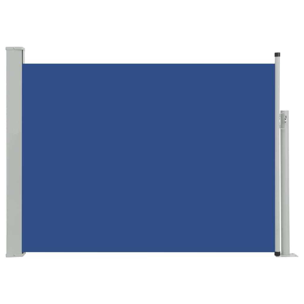 vidaXL Σκίαστρο Πλαϊνό Συρόμενο Βεράντας Μπλε 120 x 500 εκ.