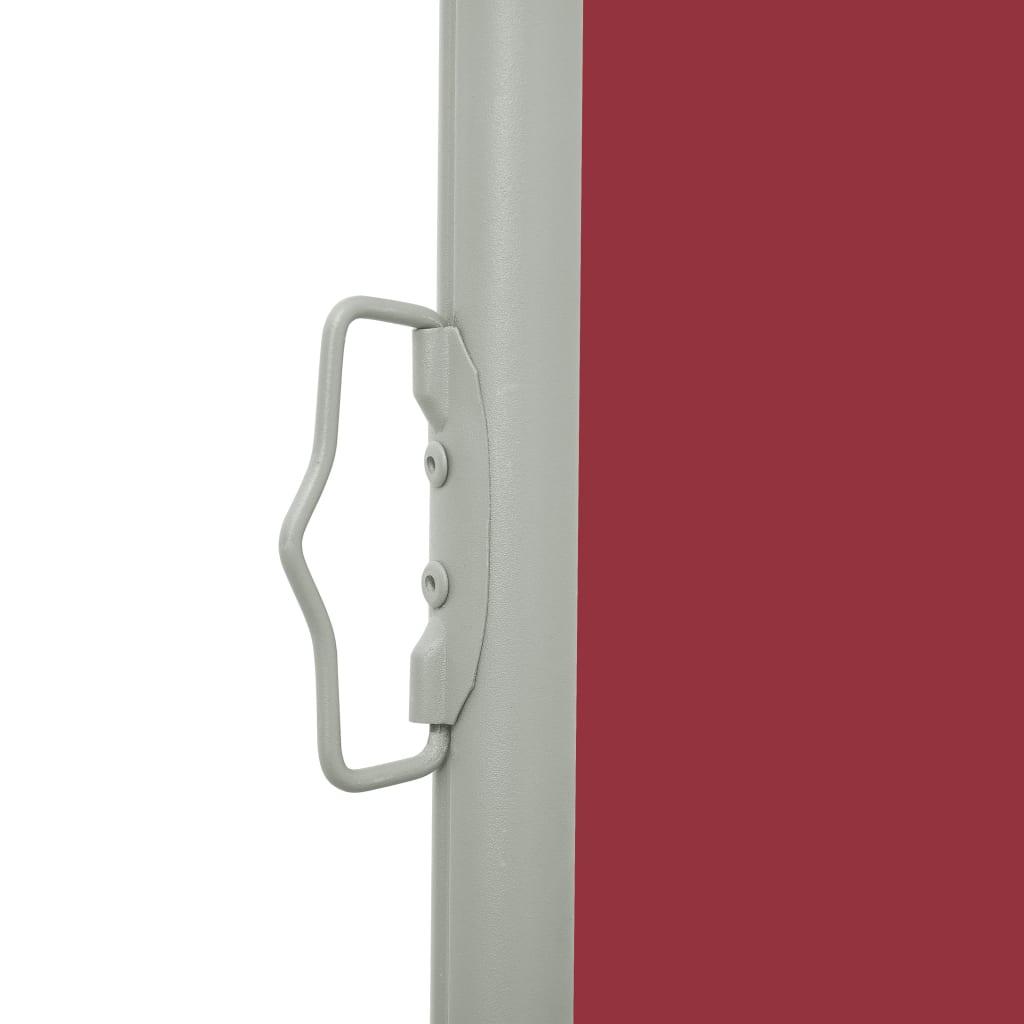Tuinscherm uittrekbaar 120x500 cm rood