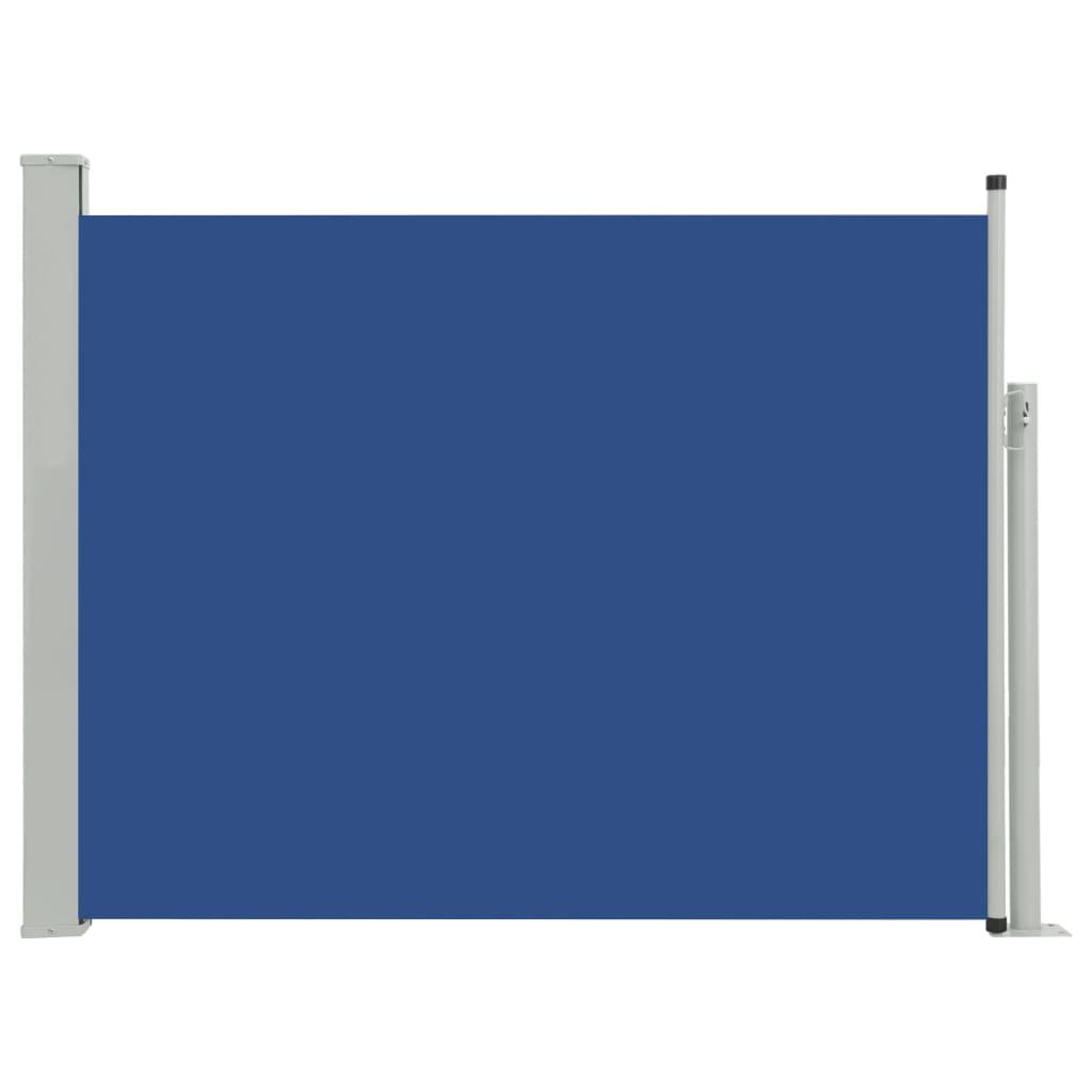 vidaXL Σκίαστρο Πλαϊνό Συρόμενο Βεράντας Μπλε 140 x 500 εκ.