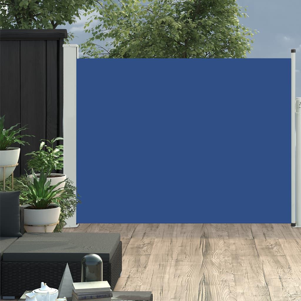 vidaXL Copertină laterală retractabilă terasă, albastru, 140x500 cm imagine vidaxl.ro