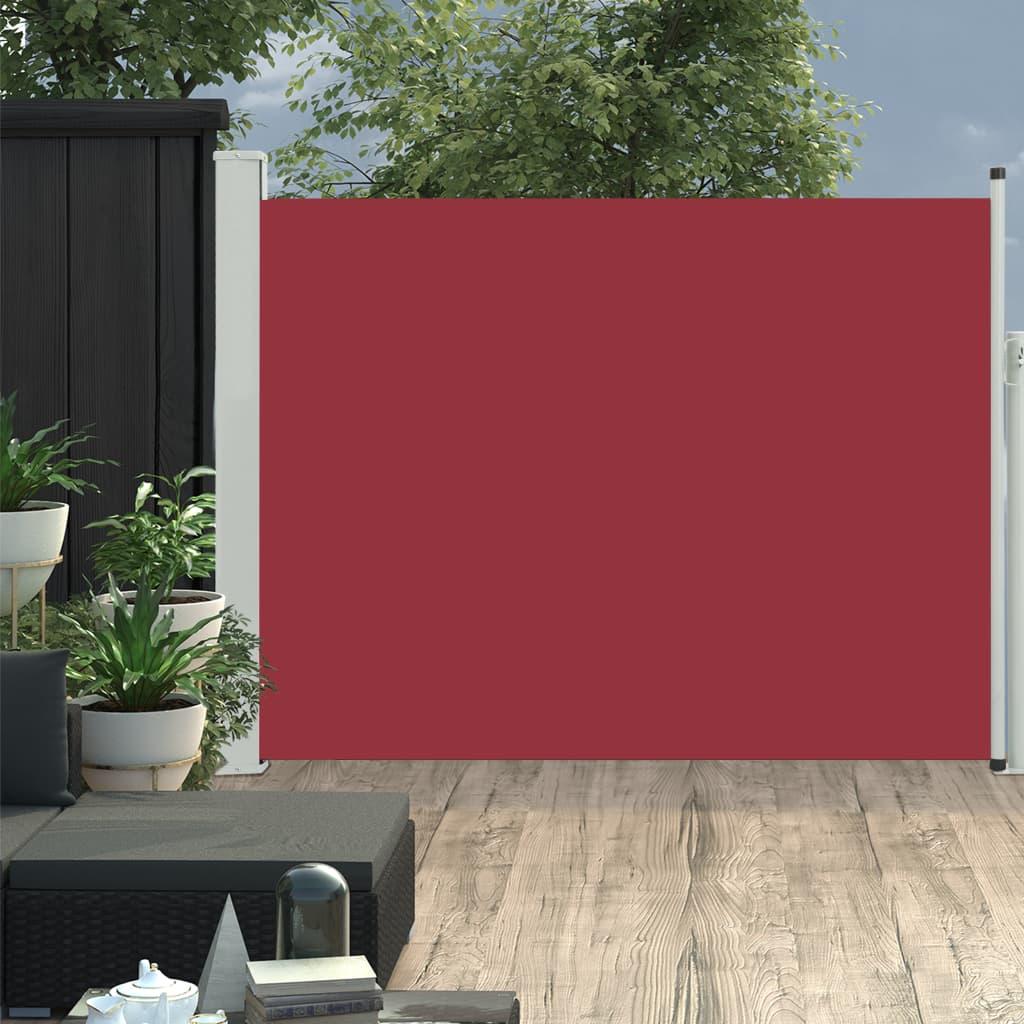 vidaXL Copertină laterală retractabilă de terasă, roșu, 140 x 500 cm vidaxl.ro