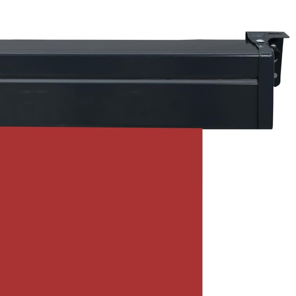 Balkonscherm 100x250 cm rood