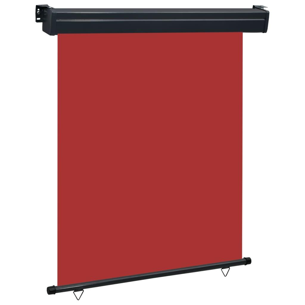 vidaXL Σκίαστρο Βεράντας Πλαϊνό Κόκκινο 140 x 250 εκ.