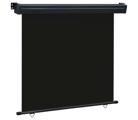 vidaXL Balkonscherm 170x250 cm zwart