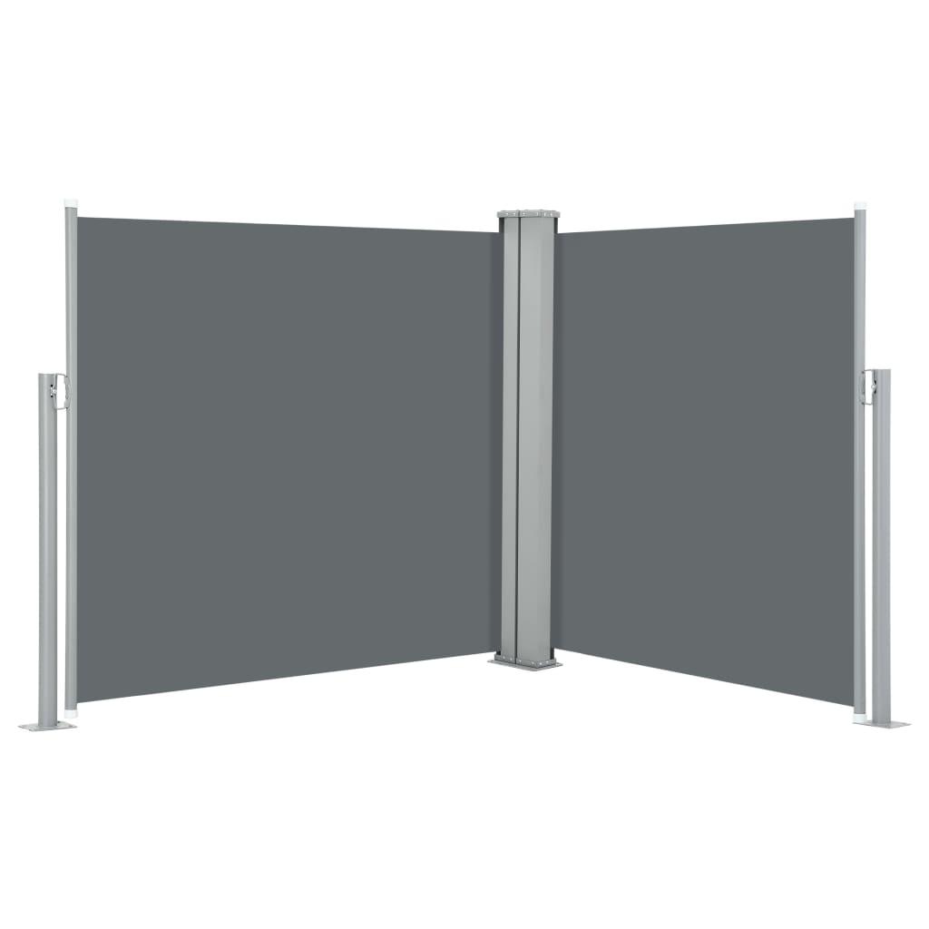 9948444 Ausziehbare Seitenmarkise Anthrazit 100 x 600 cm