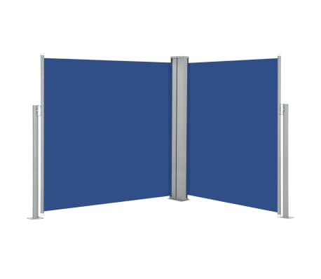 vidaXL Retractable Side Awning Blue 140x600 cm