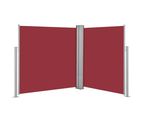 vidaXL Retractable Side Awning Red 140x600 cm