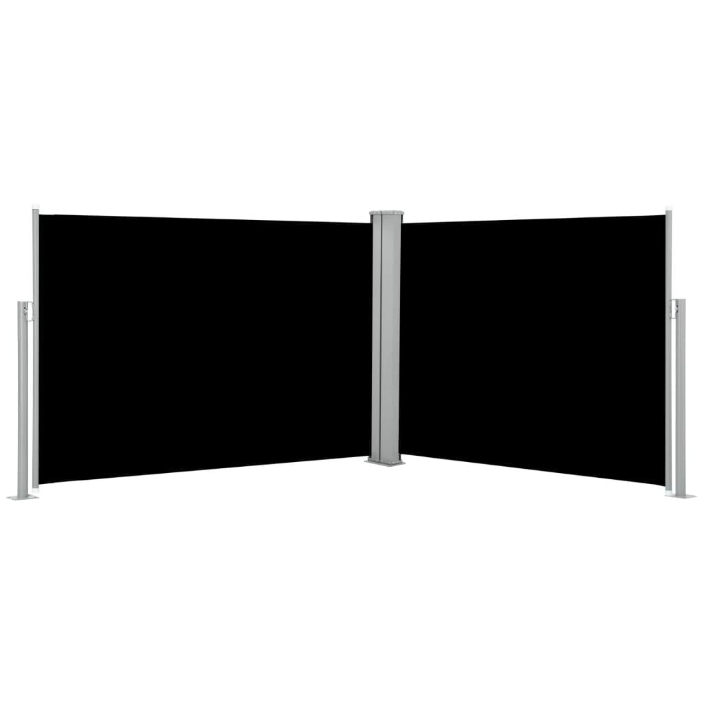 vidaXL Windscherm uittrekbaar 100x1000 cm zwart