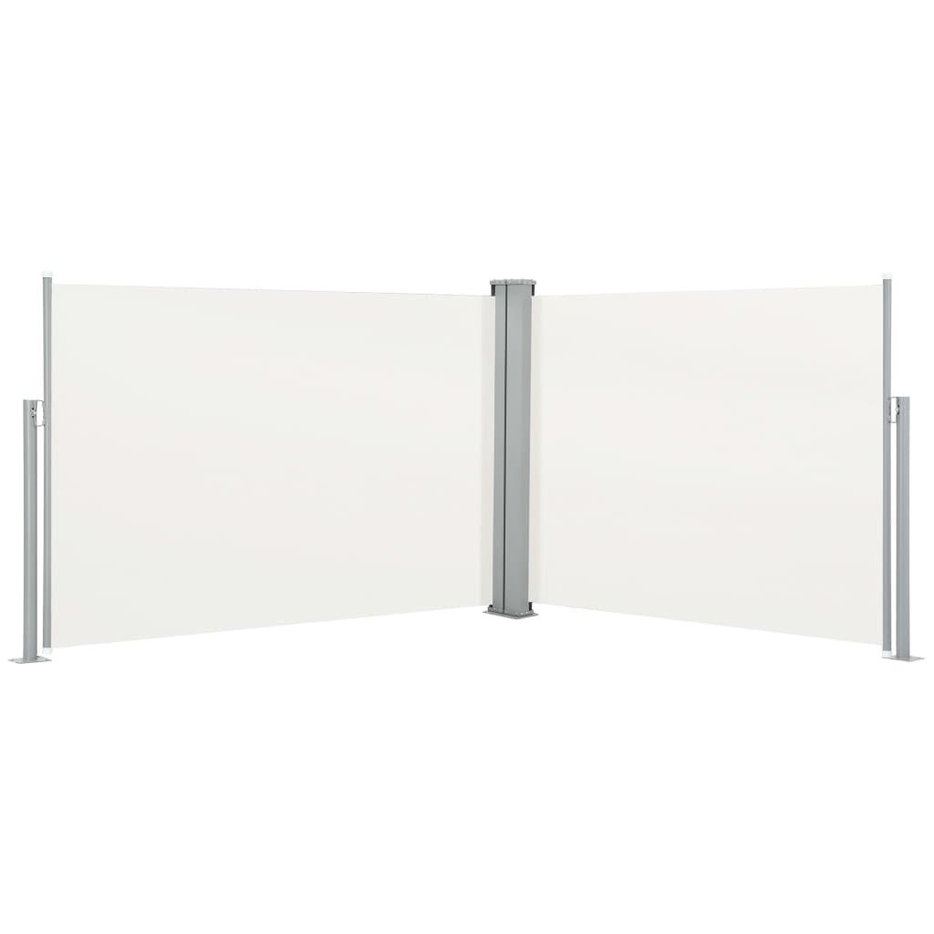 vidaXL Σκίαστρο Πλαϊνό Συρόμενο Κρεμ 100 x 1000 εκ.