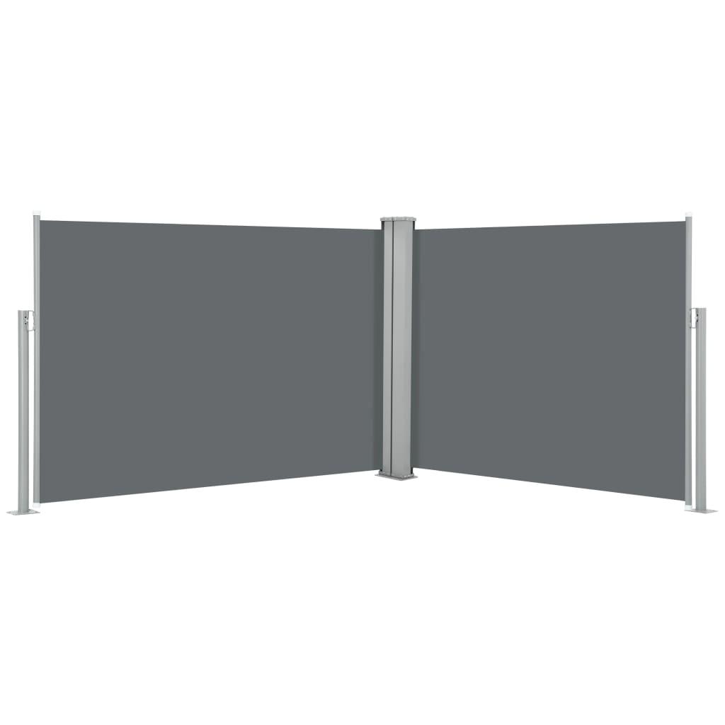 vidaXL Σκίαστρο Πλαϊνό Συρόμενο Ανθρακί 100 x 1000 εκ.