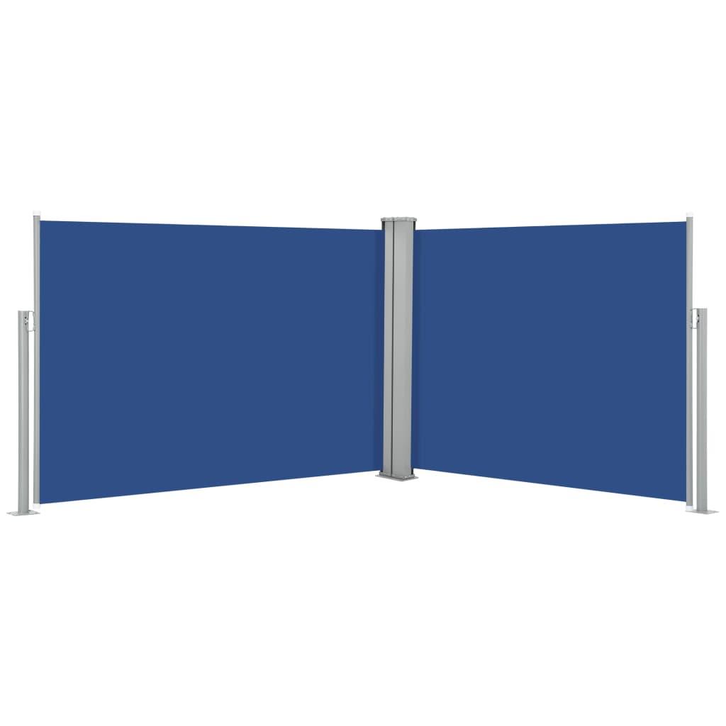 vidaXL Σκίαστρο Πλαϊνό Συρόμενο Μπλε 100 x 1000 εκ.