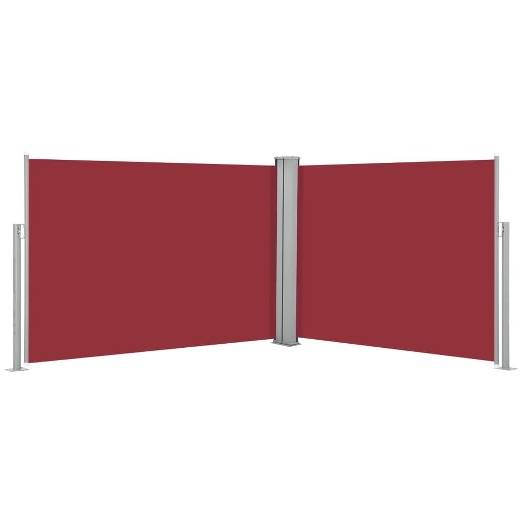 vidaXL Σκίαστρο Πλαϊνό Συρόμενο Κόκκινο 100 x 1000 εκ.
