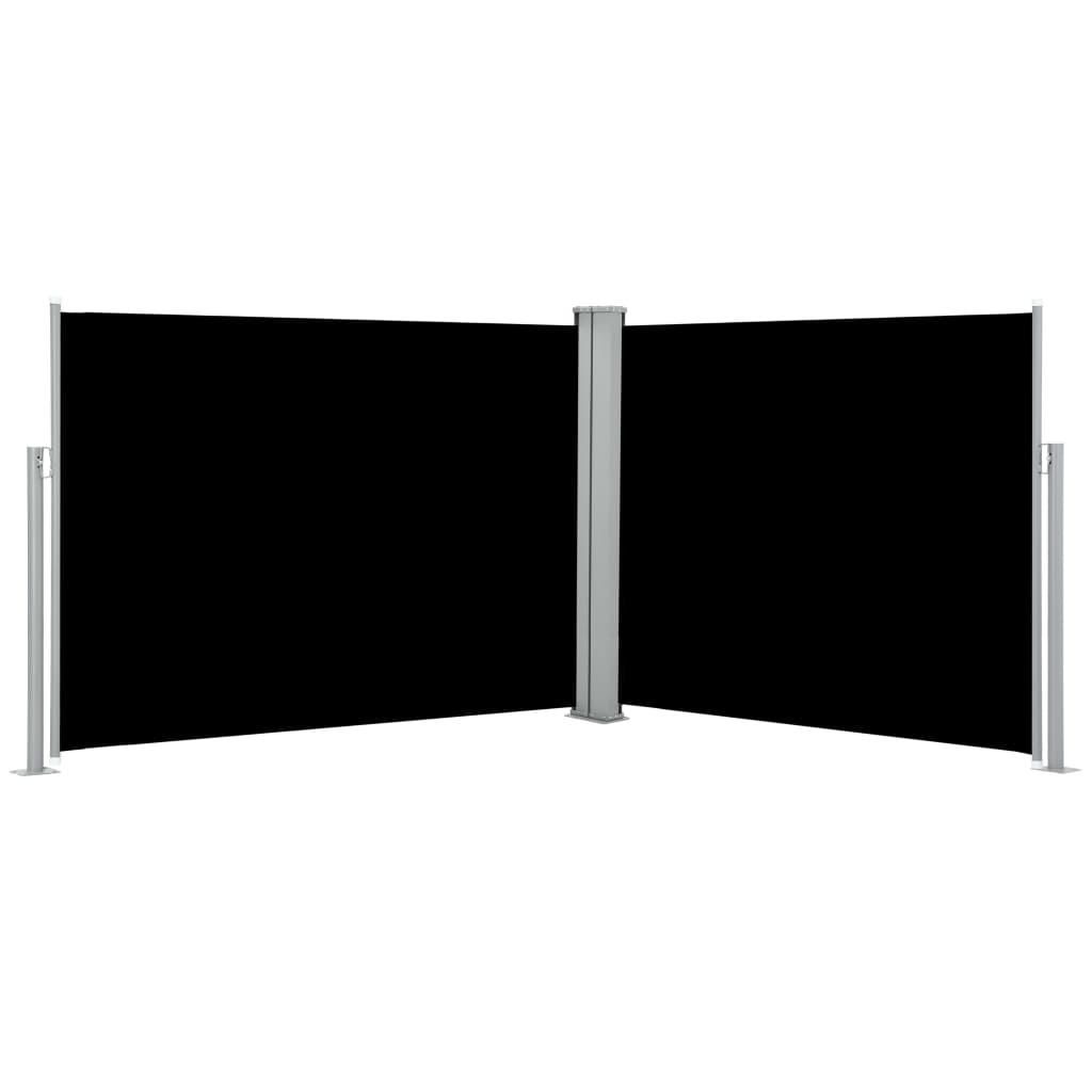 vidaXL Σκίαστρο Πλαϊνό Συρόμενο Μαύρο 170 x 1000 εκ.
