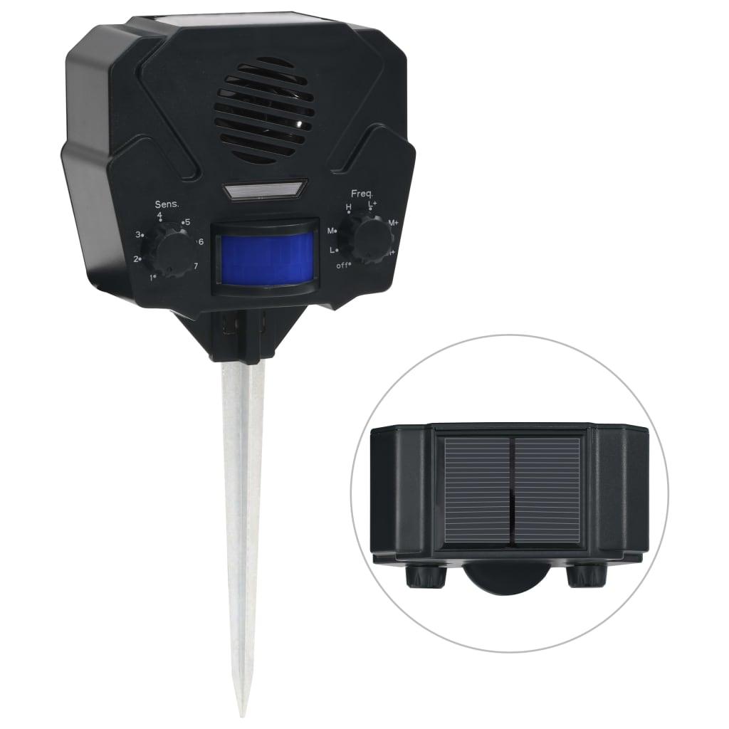 vidaXL Solární ultrazvukový odpuzovač zvířat aktivovaný pohybem