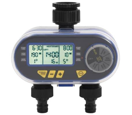 vidaXL Automatický vodný digitálny časovač s duálnym výstupom