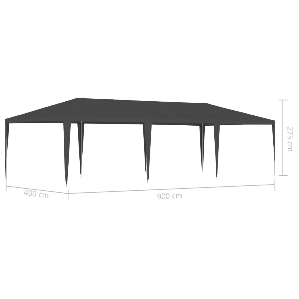 vidaXL Partytent professioneel 90 g/m² 4x9 m antraciet