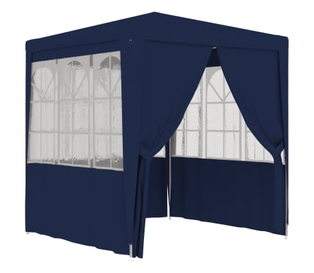 vidaXL Professional Party Tent with Side Walls 6.6'x6.6' Blue 90 g/m²