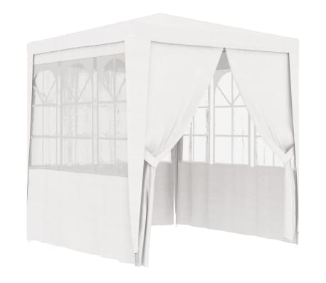 vidaXL Partytent met zijwanden professioneel 90 g/m² 2,5x2,5 m wit