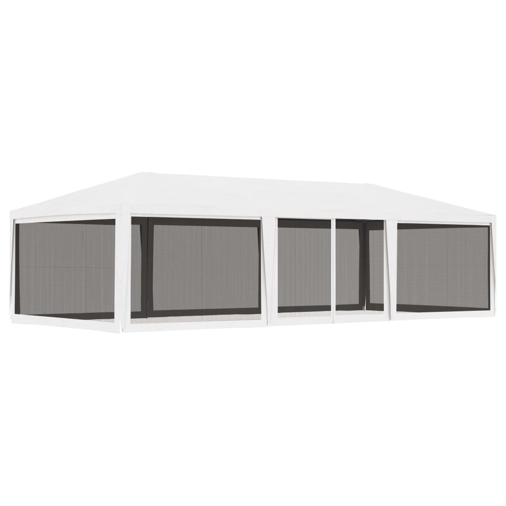 vidaXL Cort de petrecere cu 4 pereți din plasă, alb, 4 x 9 m poza vidaxl.ro