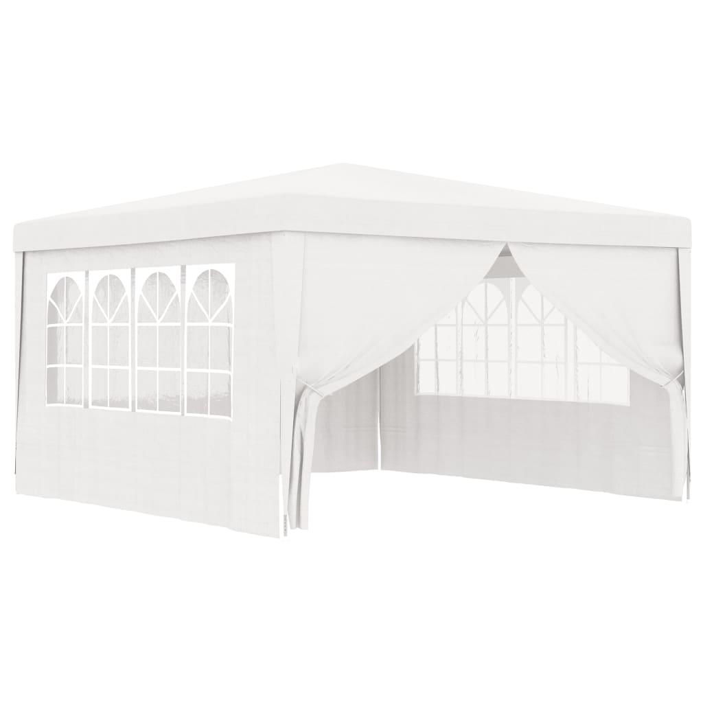 vidaXL Partytent met zijwanden professioneel 90 g-m² 4x4 m wit