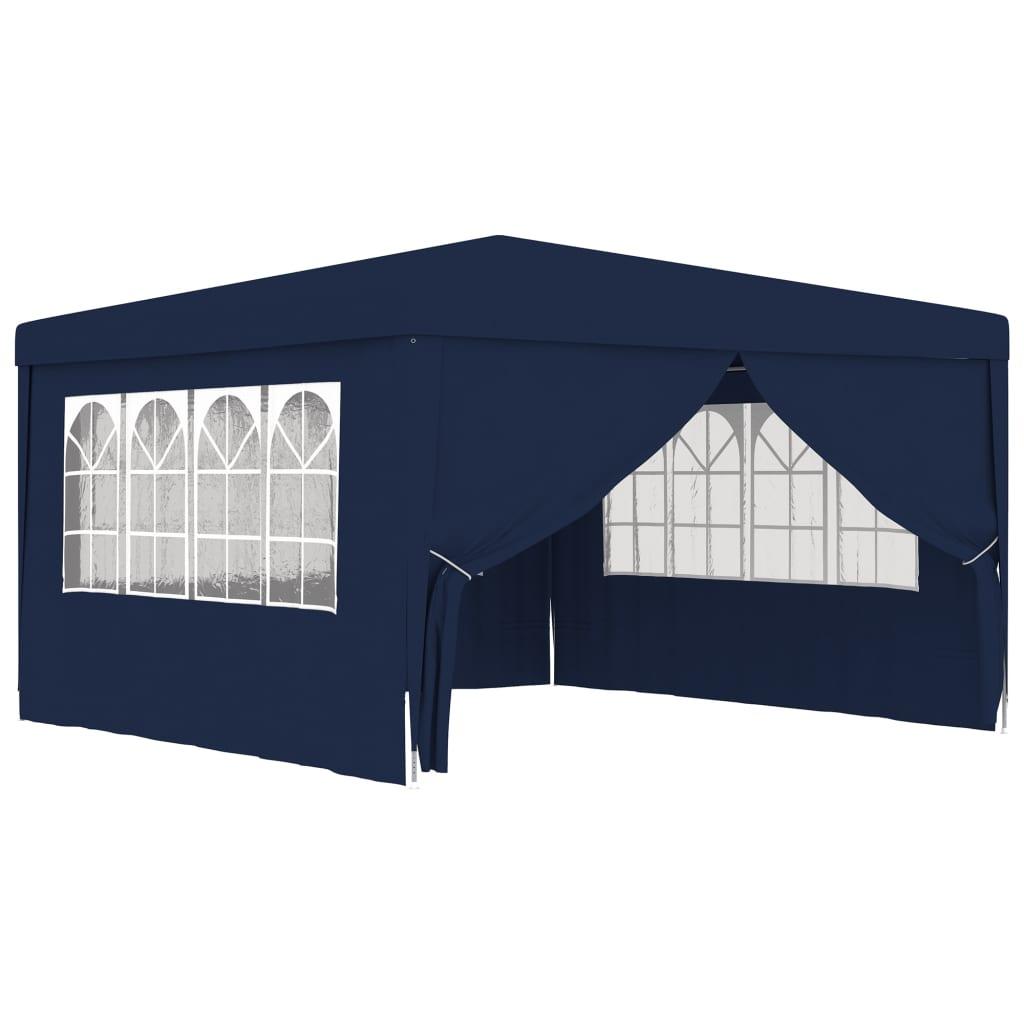 vidaXL Partytent met zijwanden professioneel 90 g-m² 4x4 m blauw